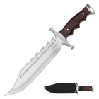 Timber Rattler Sinful Spiked Bowie Knife with nylon sheath